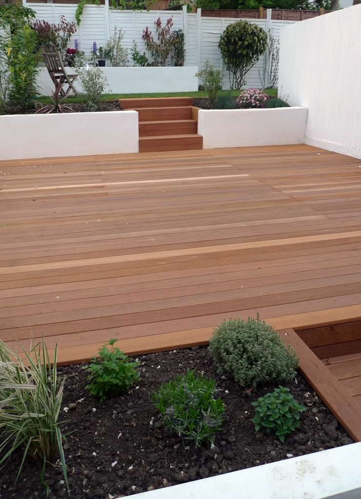 Pf projects group pf projects for Timber decking garden designs
